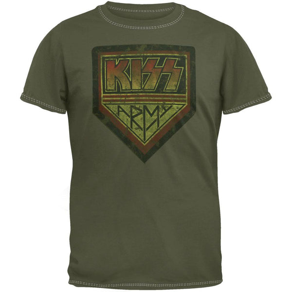 Kiss - Distressed Army Overdye T-Shirt