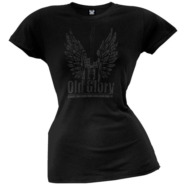 Old Glory - Winged Guitar Juniors T-Shirt
