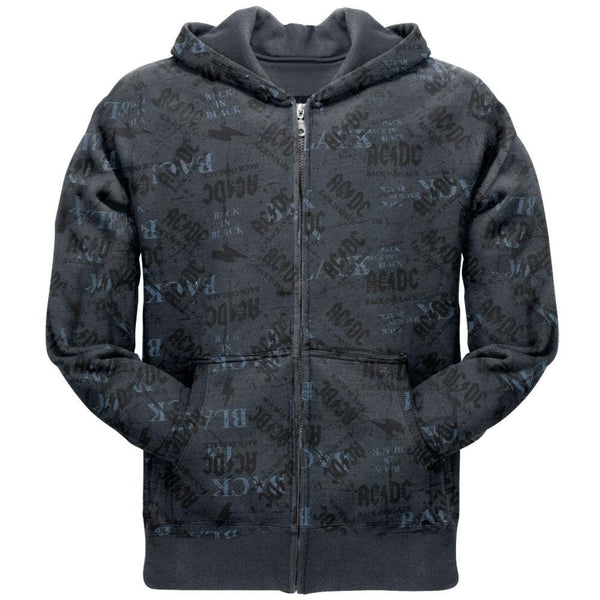 AC/DC - Back In Black All-Over Zip Hoodie