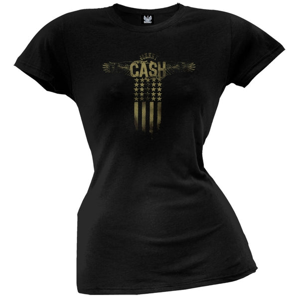 Johnny Cash - Wings Juniors T-Shirt