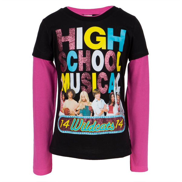 High School Musical - Cast Girls Black Youth 2fer Long Sleeve T-Shirt