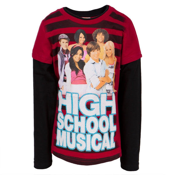 High School Musical - Red Stripes Girls Youth 2fer Long Sleeve T-Shirt