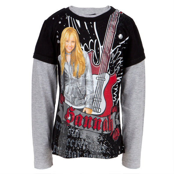 Hannah Montana - Metal Girls Youth 2fer Long Sleeve T-Shirt