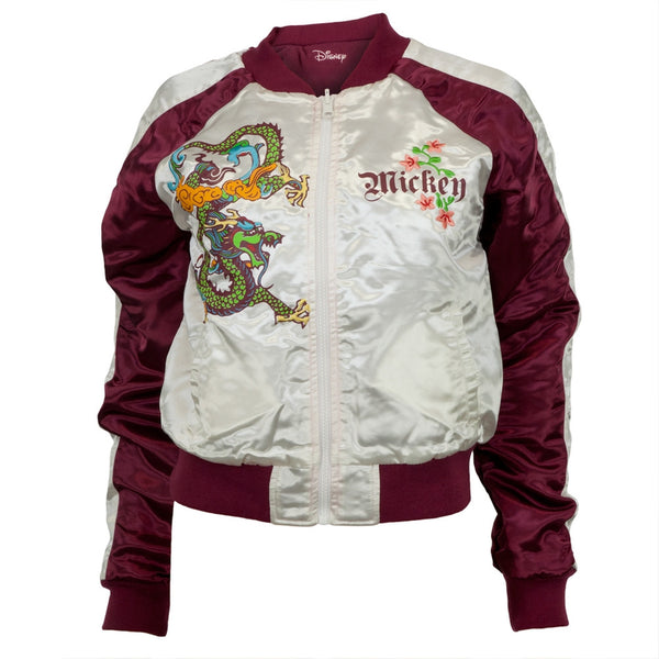 Mickey Mouse - Dragon Leaves Reversible Juniors Track Jacket