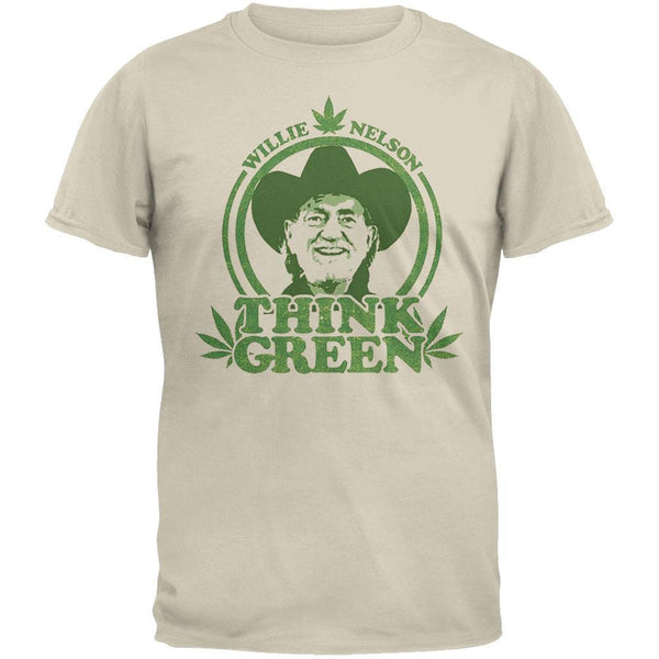 Willie Nelson - Think Green Mens T-Shirt