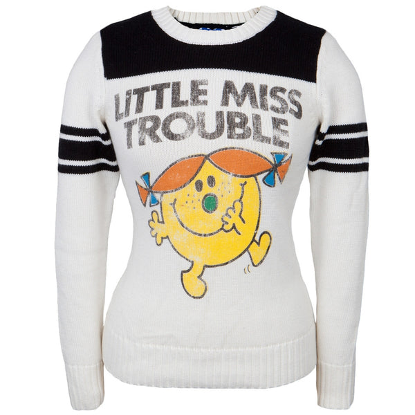 Little Miss - Miss Trouble Juniors Crew Neck Sweater