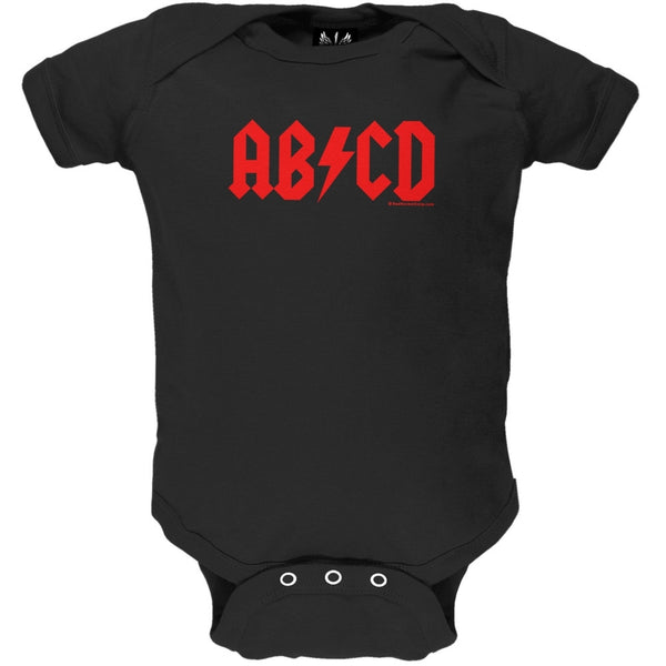 AB/CD Black Baby One Piece