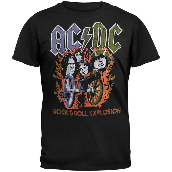 AC/DC - Rock N Roll Explosion Soft T-Shirt