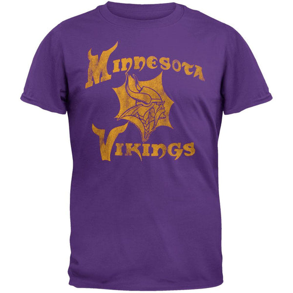 Minnesota Vikings - Distressed Logo Soft T-Shirt