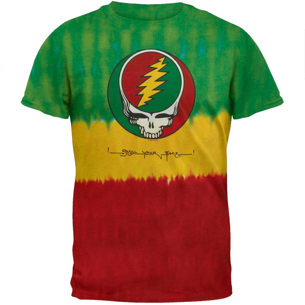 Grateful Dead - Rasta Stealie Tie Dye T-Shirt