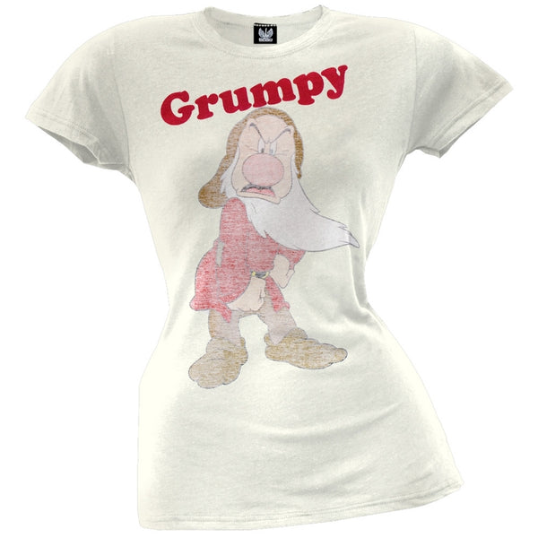 Snow White - Grumpy Reverse Print Juniors T-Shirt