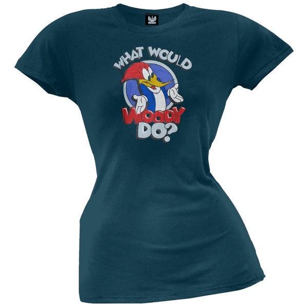 Woody Woodpecker - What Would Woody Do? Juniors T-Shirt