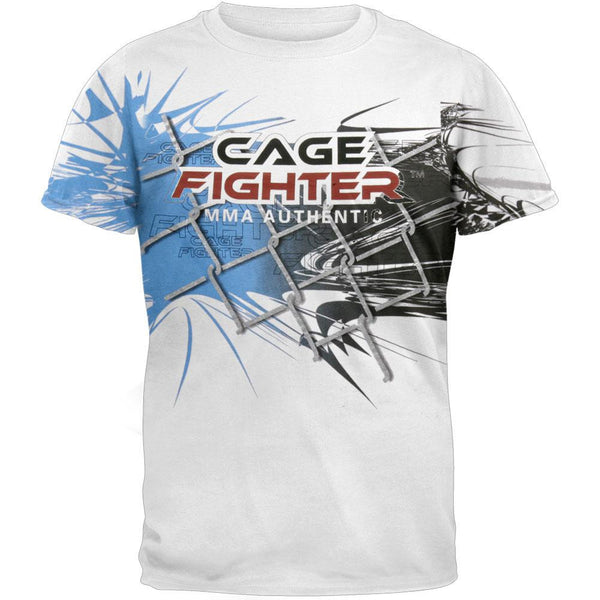 Cage Fighter - Blue Swirl T-Shirt