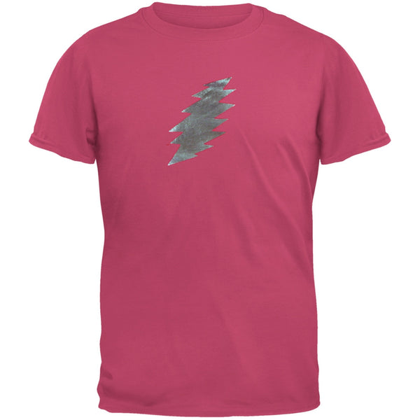 Grateful Dead - Foil Bolt Pink Youth T-Shirt