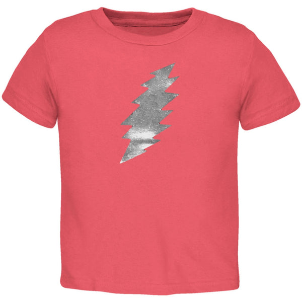 Grateful Dead - Foil Bolt Pink Toddler T-Shirt