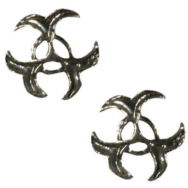 Celtic Biohazard - Stud Earrings