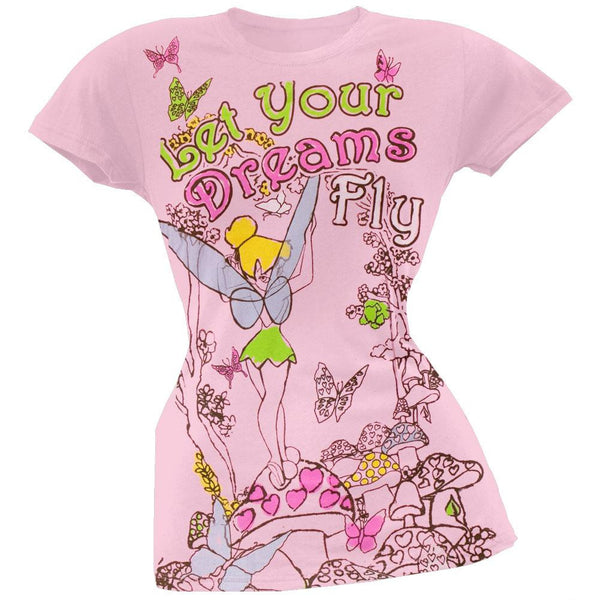 Tinkerbell - Let Your Dreams Fly Juniors T-Shirt