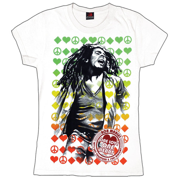 Bob Marley - One Love Label Juniors T-Shirt