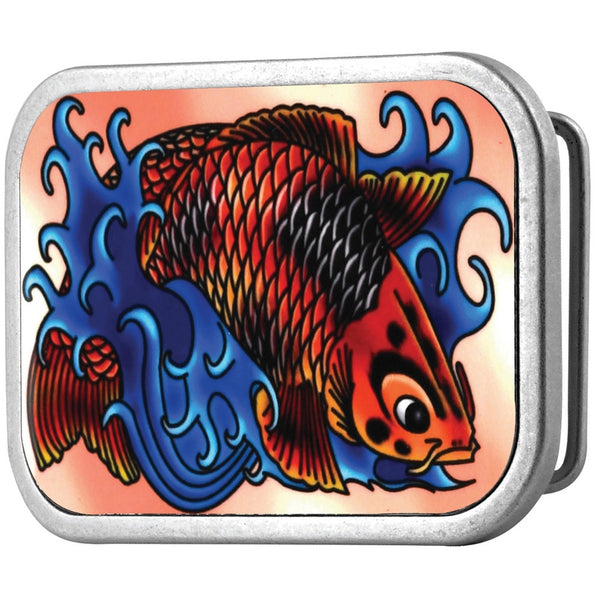 Colorful Koi Belt Buckle