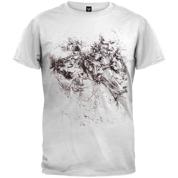 Five Grotesque Heads White Adult T-Shirt