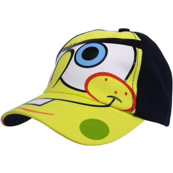 Spongebob - Big Face Black Boys Cap