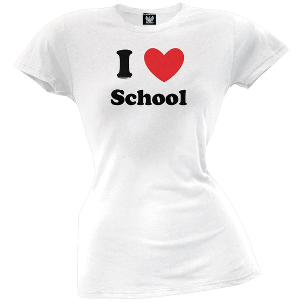 I Heart School Juniors T-Shirt