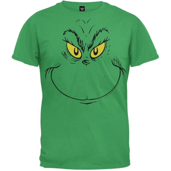Dr. Seuss - Grinch Face Youth T-Shirt