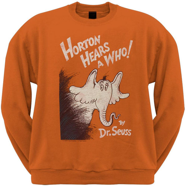 Dr. Seuss - Horton Cover Distressed Crew Neck Sweatshirt
