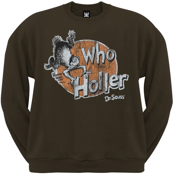 Dr. Seuss - Who Holler Crew Neck Sweatshirt