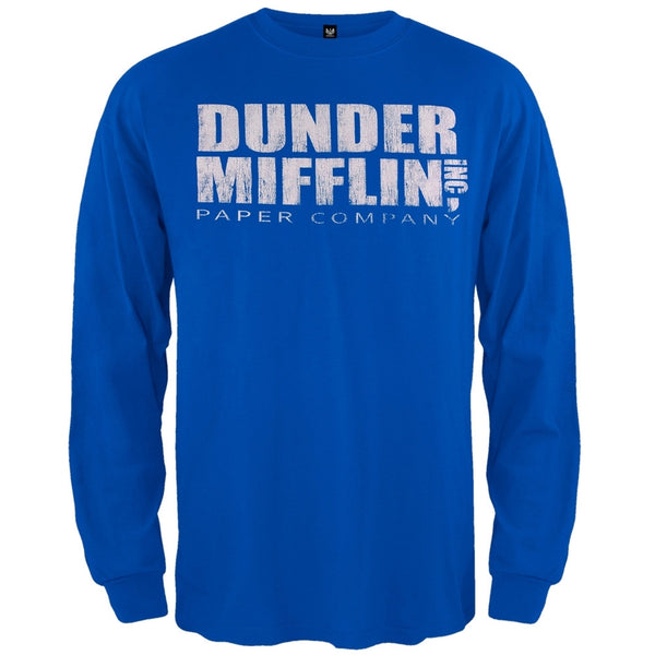 The Office - Dunder Mifflin Long Sleeve Blue T-Shirt