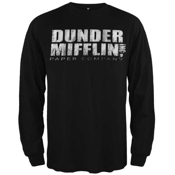 The Office - Dunder Mifflin Long Sleeve Black T-Shirt