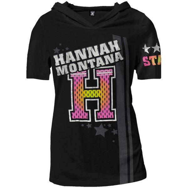 Hannah Montana - Football Star Juniors Hooded V-Neck T-Shirt