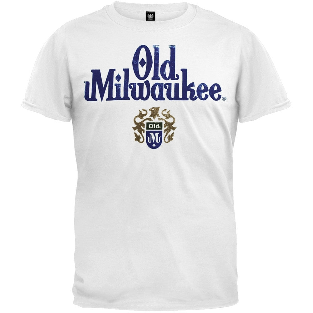 Old Milwaukee Distress Logo T Shirt Oldglory