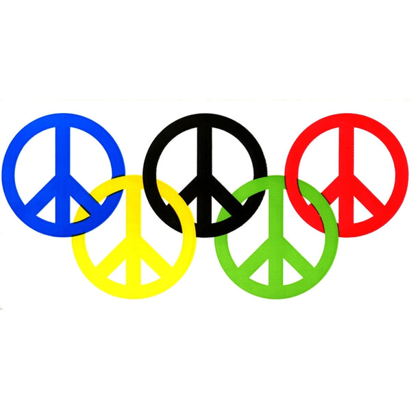 Olympics - Peace Symbols Decal