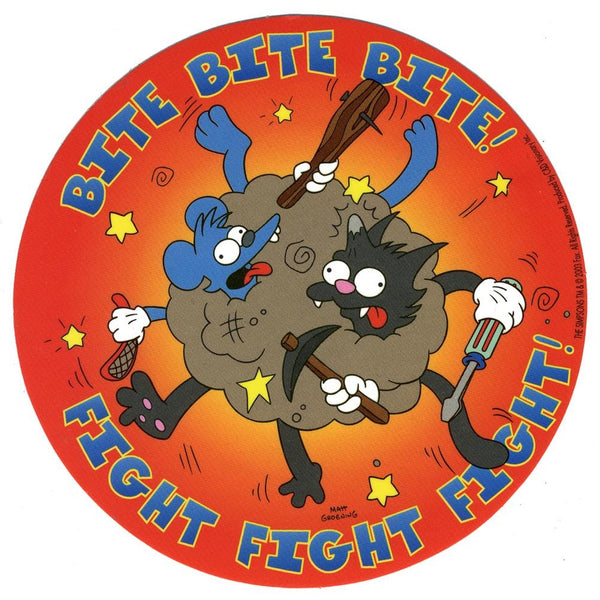 Simpsons - Itchy & Scratchy Bite and Fight Decal