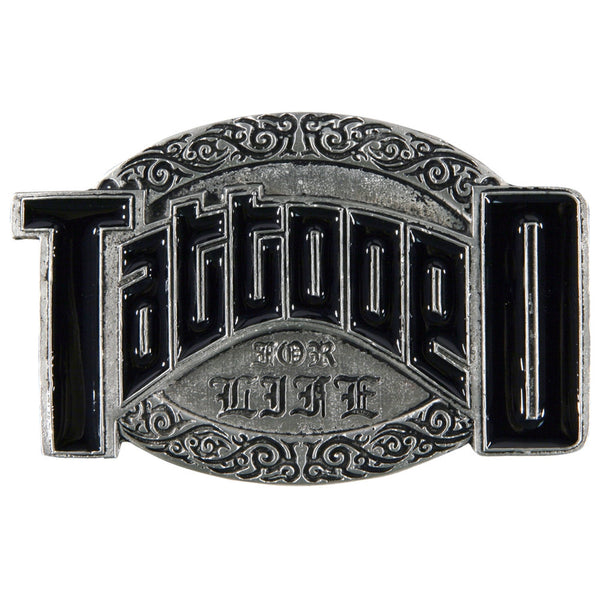 Tattooed For Life Oval Belt Buckle