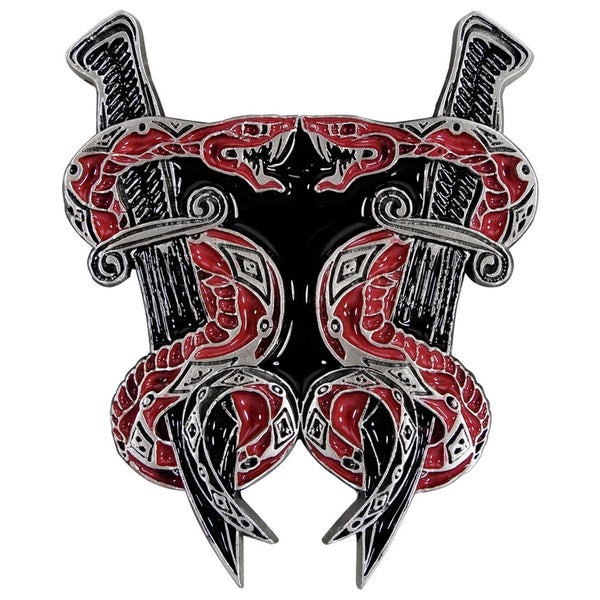 Serpent & Daggers Belt Buckle