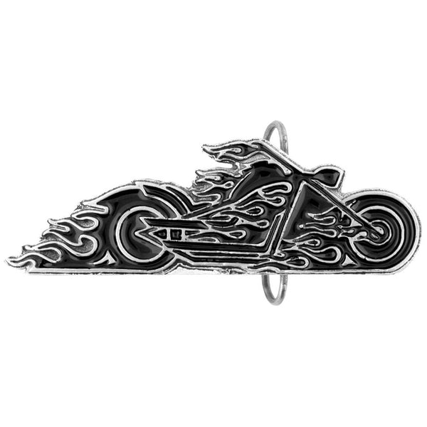 Small Flaming Bike Belt Buckle