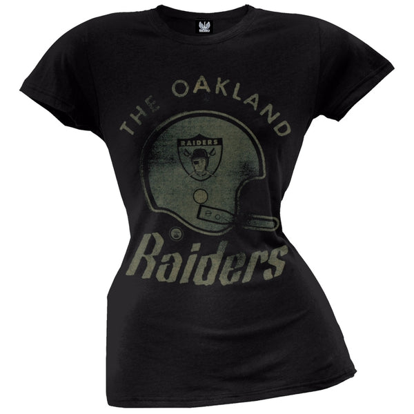 Oakland Raiders - Vintage Helmet Juniors T-Shirt