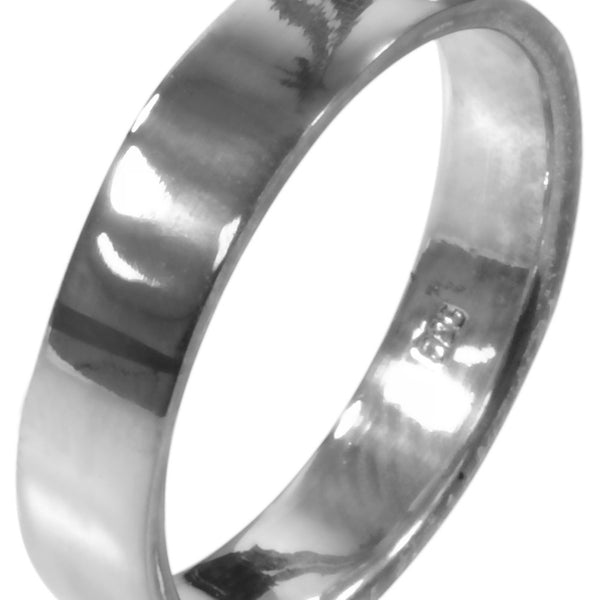 Classic Flat Band - Silver Ring