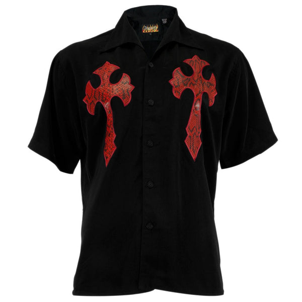 Snake Skin Cross Club Shirt