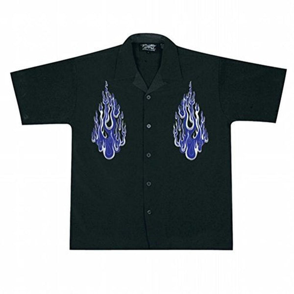 Dual Blue Flames Club Shirt