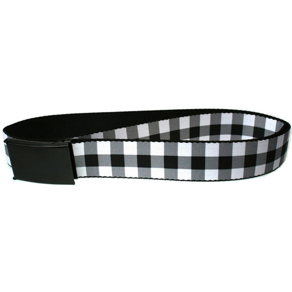 Buffalo Plaid - Black and White Web Belt