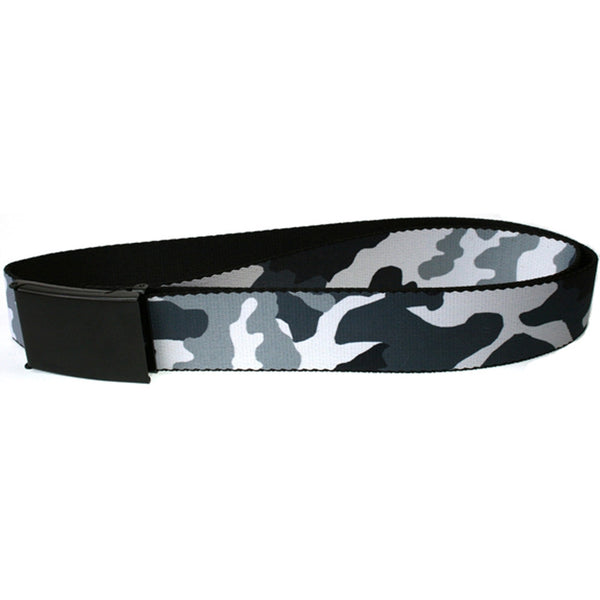 Camo - White Web Belt