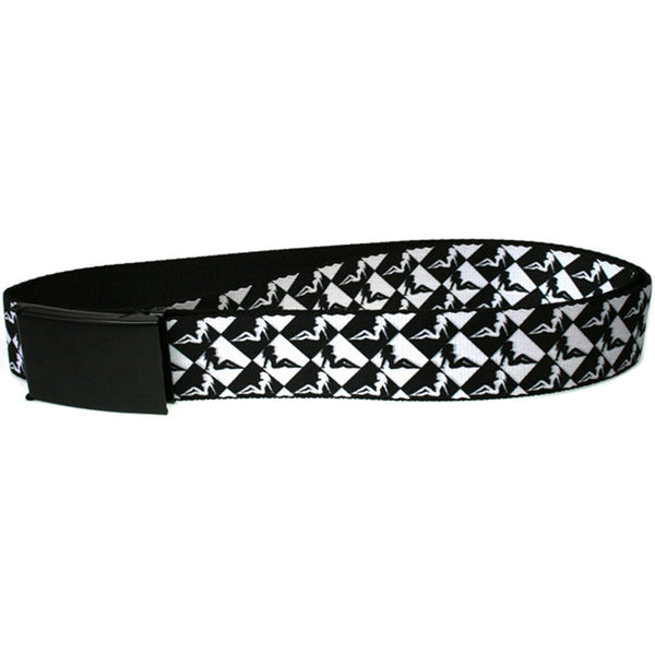 Mud Flap Girl Diamonds - Black and White Web Belt