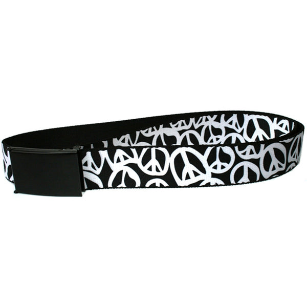 Peace - Black and White Web Belt