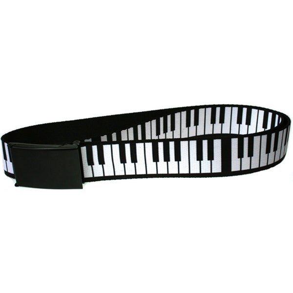 Piano Keys Web Belt