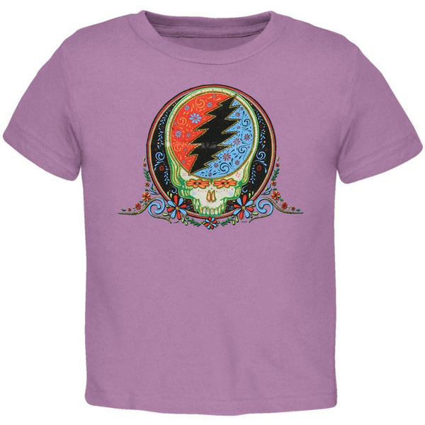 Grateful Dead - Stealie Calaveras Lavender Toddler T-Shirt