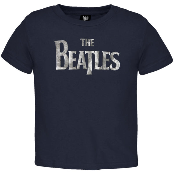 The Beatles - Foil Logo Navy Infant T-Shirt