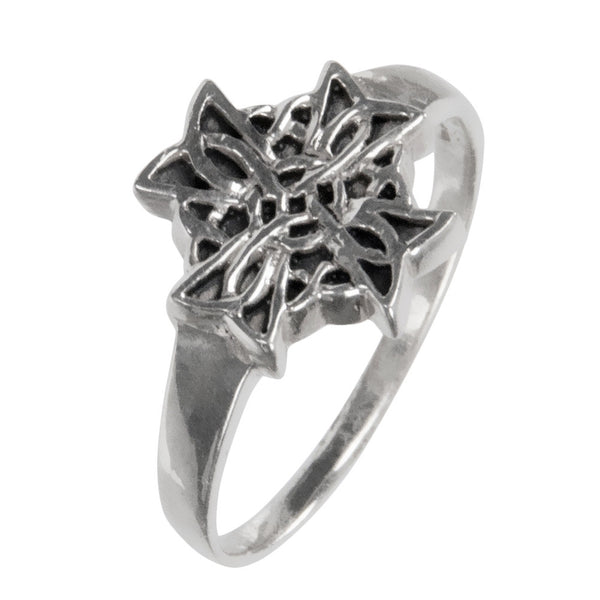 Celtic Cross Sterling Silver Ring
